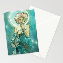 Alphonse Mucha Moonlight Art Nouveau Stationery Cards