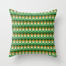 Basketball Green and White Throw Pillow