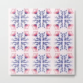 Flores Baroc Metal Print