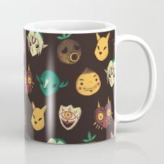pattern of masks.  Mug