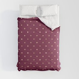 Plum & Golden Dot Pattern Comforters