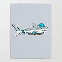 The Shark Skater Poster