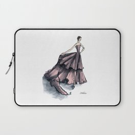 Audrey Hepburn in Pink dress vintage fashion Laptop Sleeve