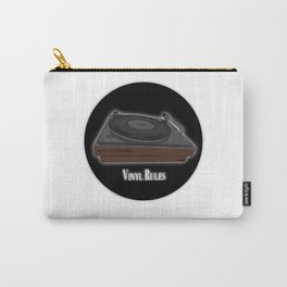 Vinyl Rules - Turntable design Carry-All Pouch