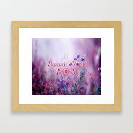 happy mothers day, mom i love you Framed Art Print