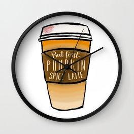 But first, pumpkin spice latte Wall Clock