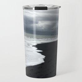 Black Sand Beach Waves in Iceland Travel Mug