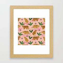 Vintage Tiger Print Framed Art Print