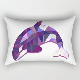 Abstract baby orca whale Rectangular Pillow