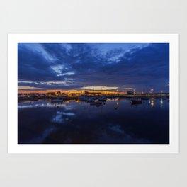 Sunset Harbour Art Print
