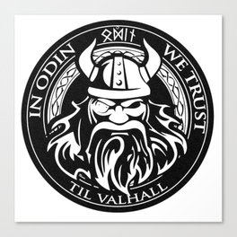In Odin we trust - The king of Valhalla Canvas Print