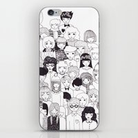it crowd iPhone & iPod Skins featuring crowd  by Milly Scarlett