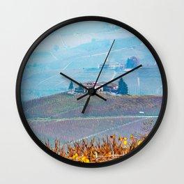 Vineyards in Barolo valley Wall Clock