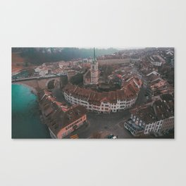 Bern from the Air Canvas Print