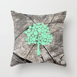 Last tree (designer) Throw Pillow