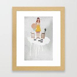 ON / ...   Collage Framed Art Print
