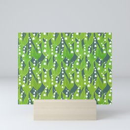 Lily of the Valley Pattern Mini Art Print
