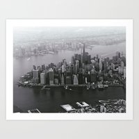 Manhattan Aerial Art Print