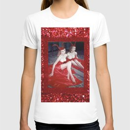 Femme Fatale - Anita Red Devil Glitter T-shirt