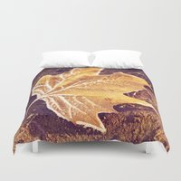 fitzgerald Duvet Covers featuring Autumn Frost by Elke Meister