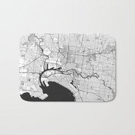 Melbourne City Map Gray Bath Mat