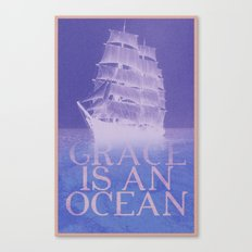 Grace is an Ocean Canvas Print