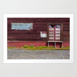 Abandoned patterns. Art Print