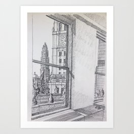Chicago - Wrigley Mather Art Print