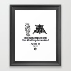 Space and the Moon Walk Framed Art Print