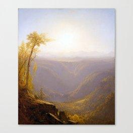 Sanford Robinson Gifford A Gorge in the Mountains Canvas Print