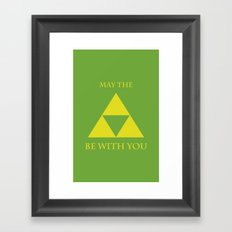 May the triforce be with you Framed Art Print