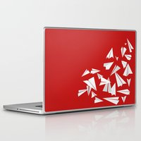 planes Laptop & iPad Skins featuring Paper Planes by Becky Gibson