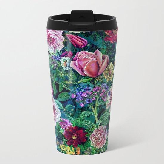 Botanical Flowers II Metal Travel Mug