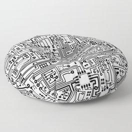 Circuit Board Floor Pillow