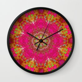 MANDALA NO. 4 #society6 Wall Clock