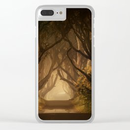 Sunny morning at Dark Hedges Clear iPhone Case