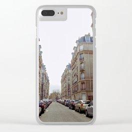 Paris street downtown Clear iPhone Case