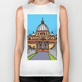 architectural art, architectural design, vatican italy Biker Tank