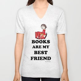 Books are my best Friend Unisex V-Neck