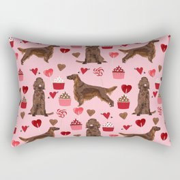 Irish Setter valentines day dog breed cupcakes love hearts setters gifts Rectangular Pillow