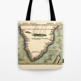 Map Of South Africa 1513 Tote Bag
