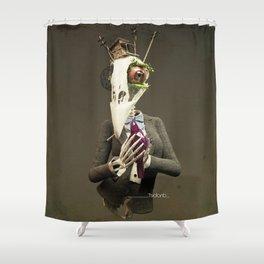 Skull bird Shower Curtain