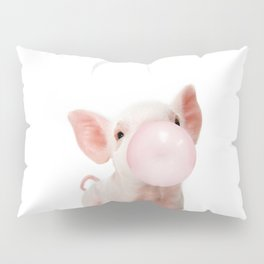 Bubble Gum Baby Pig Pillow Sham