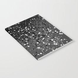 Dark Gray Black Lady Glitter #1 #shiny #decor #art #society6 Notebook