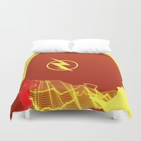 flash Duvet Covers featuring Flash by Frank DeAngelo