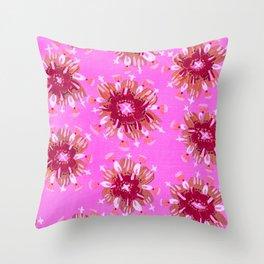 Raspberry Rose Throw Pillow