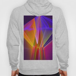 Neon merry-go-round, colourful fractal abstract Hoody