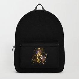 Golden Musical Key Backpack