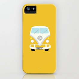 Surf's Up Minimal Yellow Bus iPhone Case