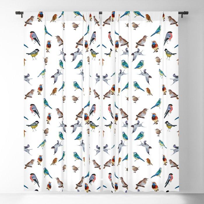 I love birds Blackout Curtain